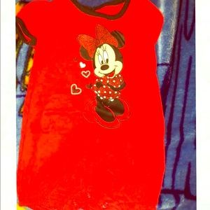 Red Minnie Mouse Romper
